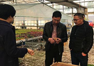 象山县科技局局长带队来我公司基地进行实地考察